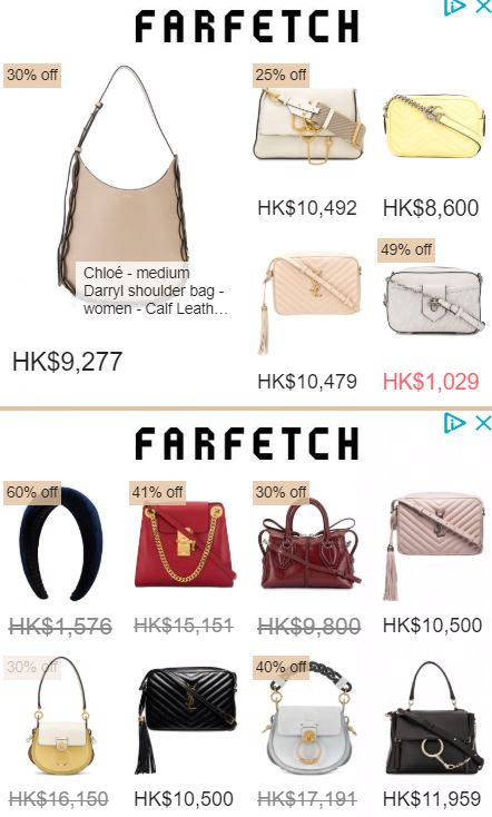farfetch Handbag on sale