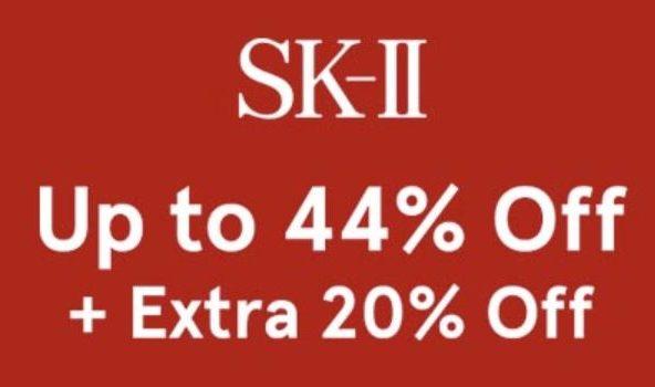 Zalora優惠碼: SKII 優惠折扣 – 高達44% OFF + 額外20% OFF