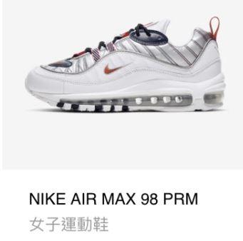 NIKE AIR MAX 98 PRM女子運動鞋
