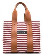 FARFETCH手袋優惠碼: Marni stripe-print tote bag – 15% OFF優惠