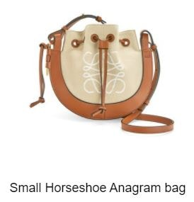 24S Small Horseshoe Anagram bag