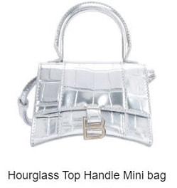 24s手袋: Hourglass Top Handle Mini Bag